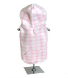 Pink check fleece